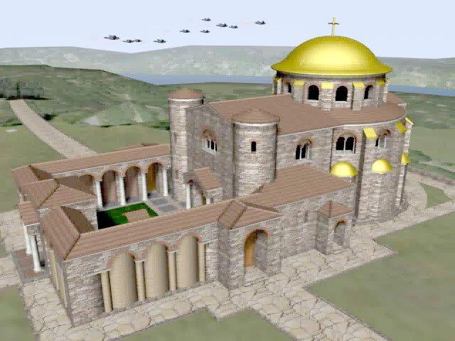 Възстановка на Кръглата църква по модела на арх. Бойко Граменов Модел и анимация: арх. Бойко Граменов