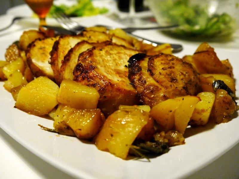 Печено с картофи (веган)