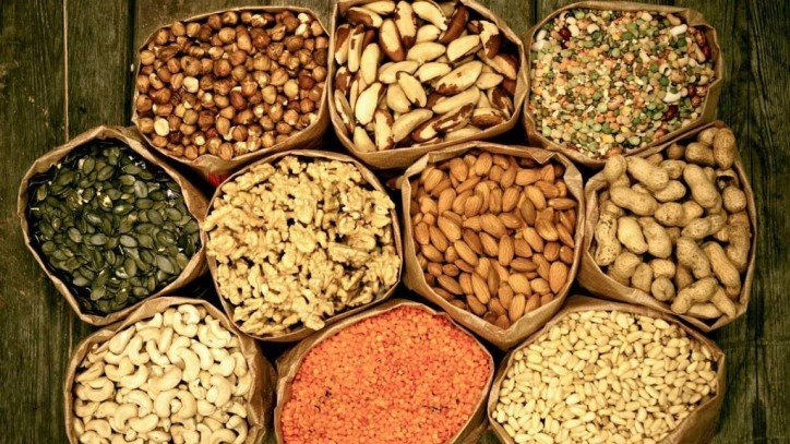 Activation of nuts, seeds and cereals