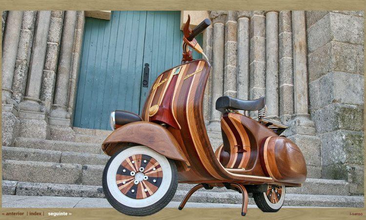 """Дървен скутер """"Vespa"""" проектиран до перфектност"""
