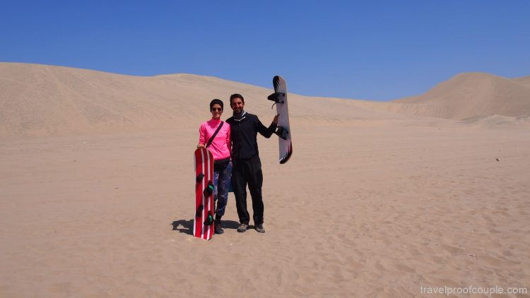 With Anton and Flame around the World: Sandboarding at the Huacachin Oasis