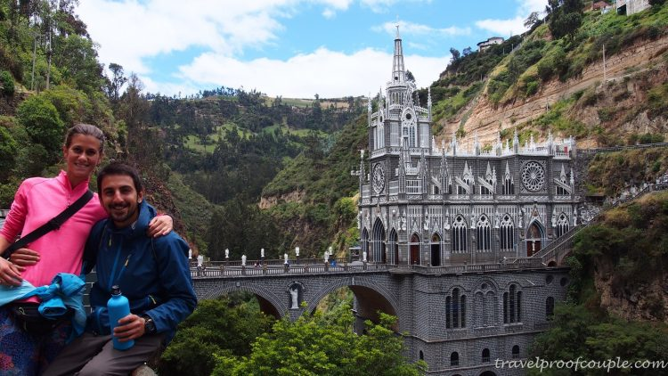 With Anton and the Flames of the World: Las Lajas - Colombia's architectural marvel