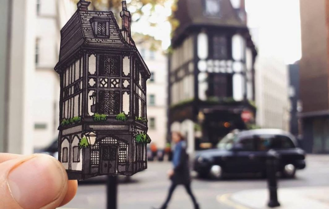 Пътуващ илюстратор, вдъхва нов живот на историческите кръчми в Лондон