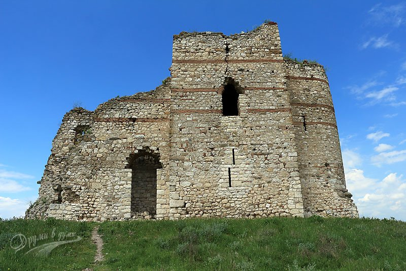 Bukelon Fortress in the village of Matochina in Sakar Mountain: castle tower, unsolved monogram and many battles