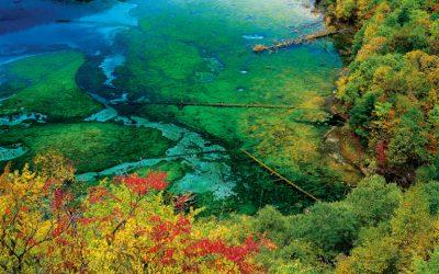 Магнетичното петцветно езеро в Китай