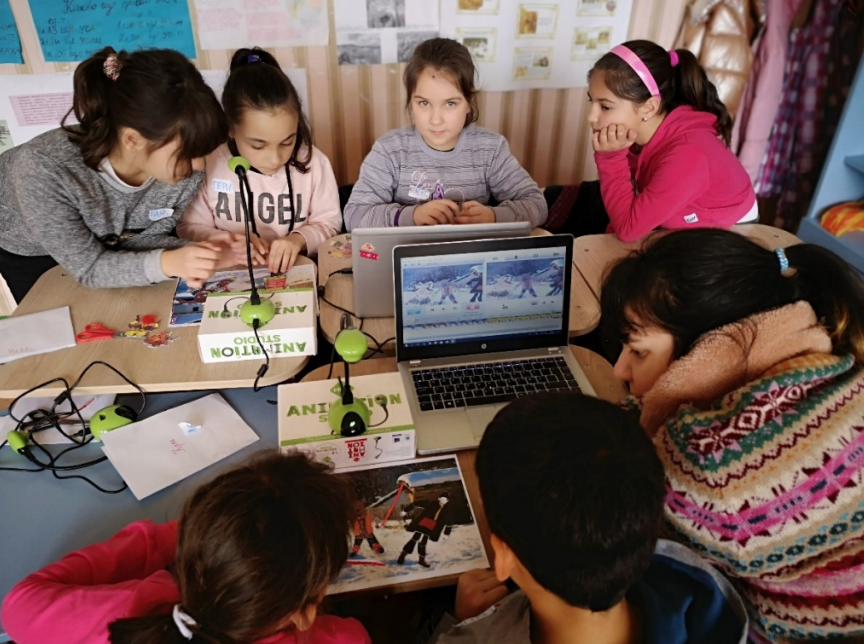 Children made animated films about Bulgarian customs