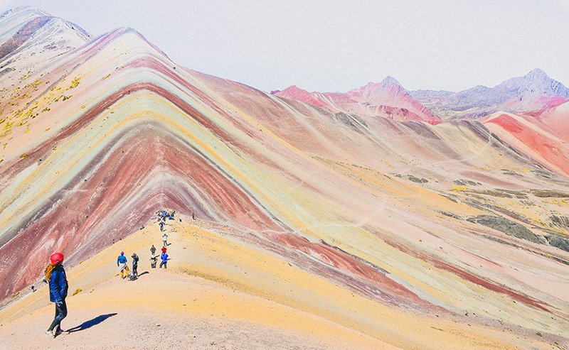 The Mountain of Seven Colors in Peru